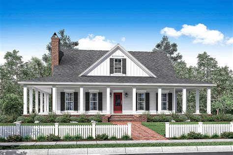 2 house plans with wrap around porch 3 bed country house plan with wraparound porch
