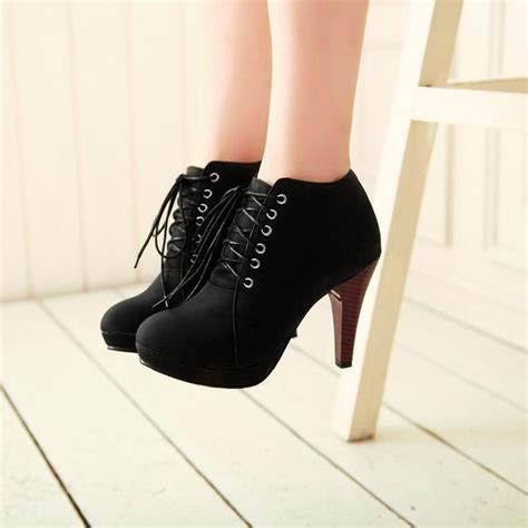toe stiletto high heel lace u discount boots and stilettos