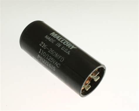 mallory start capacitors psu21615 mallory capacitor 216uf 125v application motor start 2020071557