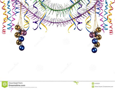 border from the christmas tree decorations stock illustration image 6450529