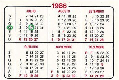 Calendario De 1986 Giga Matem 225 Tica Como Descobrir O Dia Da Semana Em Que