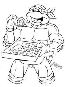 ninja turtle happy birthday coloring page teenage mutant ninja turtles coloring pages bing images