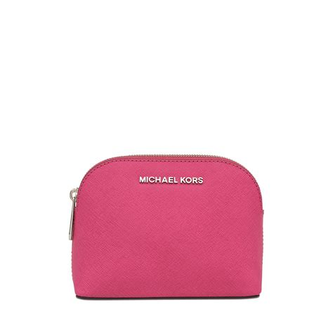Pink Pouch michael kors cosmetics bag rhodium travel pouch in pink lyst
