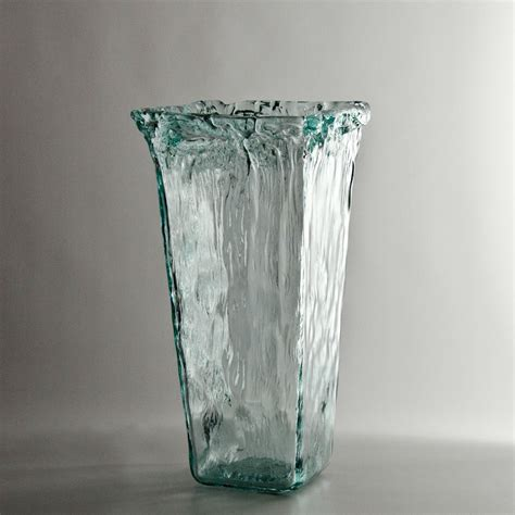 Wholesale Flowers Vases by Recycled Glass Square Vase At Wholesale Flowers And