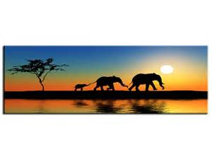 Charmant Deco Peinture Salon 2 Couleurs #10: Tableau-peinture-deco-murale-afrique-elephants.jpg