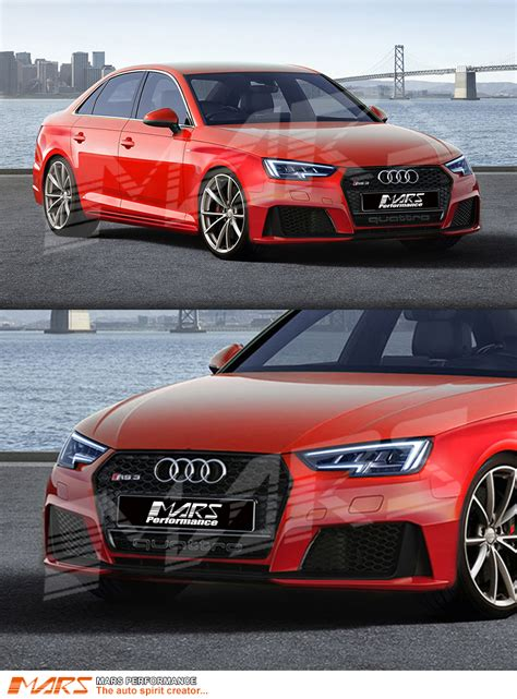 Audi A4 Grill by Gloss Black Quattro Rs4 Style Front Bumper Bar Grille