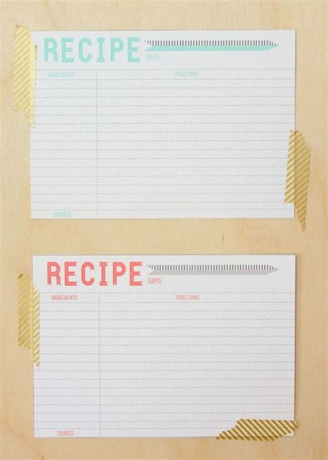 Ccf Card Template by 25 Best Ideas About Recipe Templates On