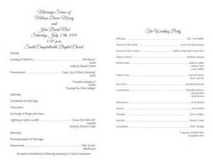 Program Templates Wedding by Wedding Program Templates Wedding Programs Fast