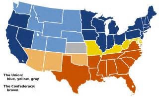 us civil war secession map what can be inferred about the border states a they