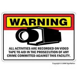 Interior Home Surveillance Cameras security camera signs sign burglar video warning