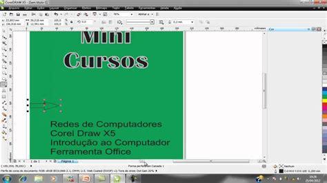 tutorial banner coreldraw x5 banner feito no corel draw x5 youtube