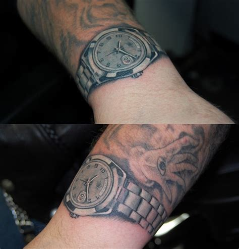 wrist watch tattoos large image leave comment