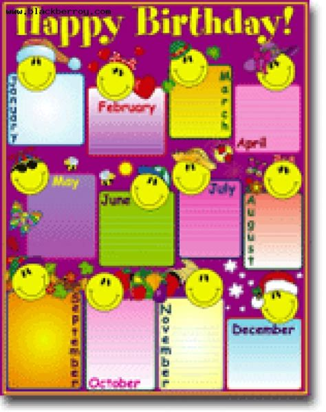 7 best images of printable happy birthday chart happy