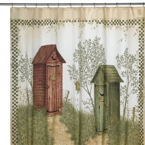 outhouse shower curtain buy outhouse shower curtain from bed bath beyond