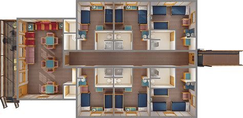 bunk room floor plans conference center cabins mountain cus