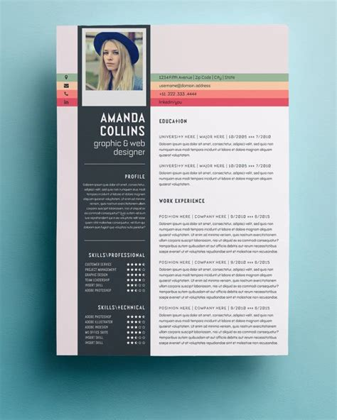 design resume template 17 best ideas about creative cv template on