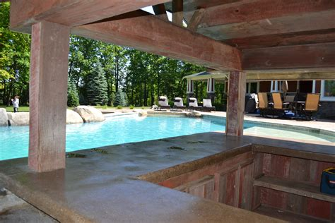 how to build a pool house custom michigan swimming pool by legendary escapes