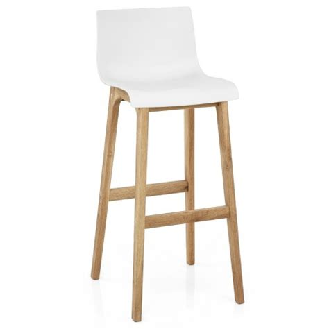 And White Bar Stools drift oak white bar stool atlantic shopping