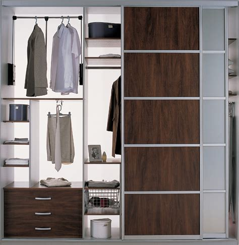 Storage Closet With Doors by Closet Organizer With Sliding Doors Modern Bedroom
