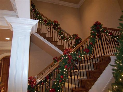 Banister Garland by Deck The Halls With Beautiful Garland West