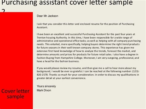 Buying Assistant Cover Letter by Purchasing Assistant Cover Letter
