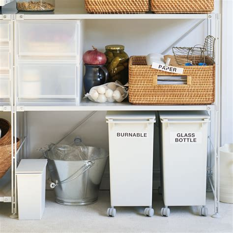muji trash can 10 easy pieces recycling bins remodelista