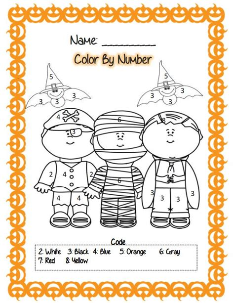 halloween coloring pages numbers 42239 best math for kindergarten images on pinterest