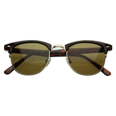 Retro Sunglasses vintage half frame clubmaster shades style classic optical