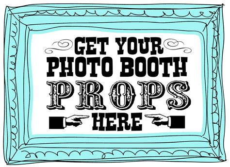 printable photo booth prop signs carnival party printable freebies and sneak peaks