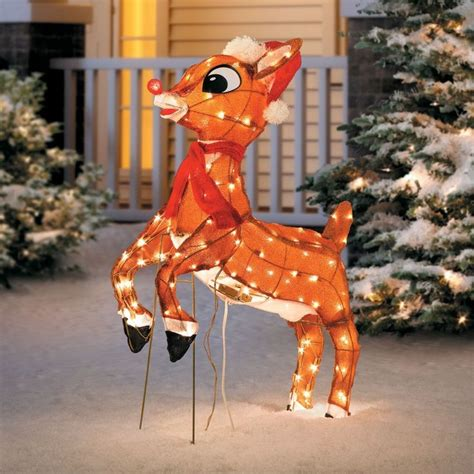lighted reindeer yard decorations 242 best outdoor christmas decorations images on pinterest