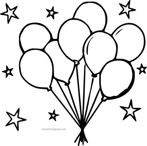 Coloring balloons coloring page party stars balloon boy pages balloons coloring page