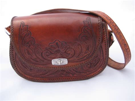 Handcrafted Leather Purses - handcrafted leather purse lined with additional pockets sewn