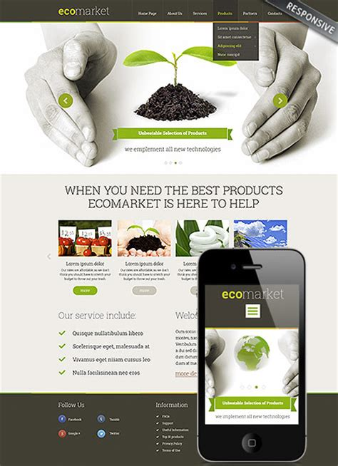 Ecology Products Wordpress Theme Best Website Templates Products Website Templates