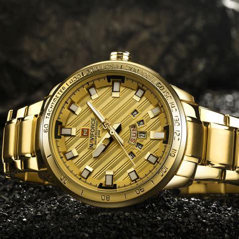 Jam Tangan Navi 9080 1 navi jam tangan analog pria 9090 golden