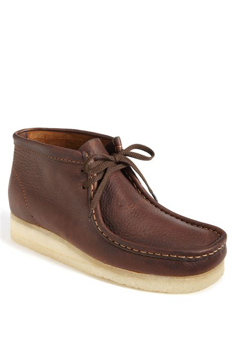 wallabee boots clarks wallabee boot in brown for brown leather