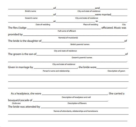 Wedding Newspaper Template by Sle Wedding Announcement 14 Documents In Pdf Word
