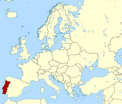 large location map of portugal portugal large location