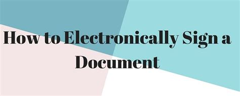 Electronically Sign Word Document