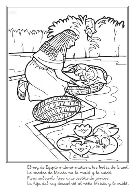 bible coloring pages baby moses 76 best moses baby images on pinterest sunday school