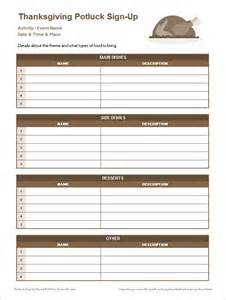 Potluck Spreadsheet Template by Potluck Sign Up Sheets For Excel And Sheets