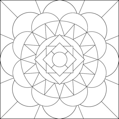 Geometric Flower Coloring Pages geometric flower coloring pages coloring home