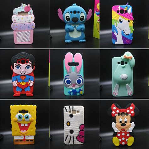 Silicon Casing Hardcase 3d Samsung A5 E5 J5 numerous 3d character image silicone cover phone for samsung galaxy j5 a5 e5 in