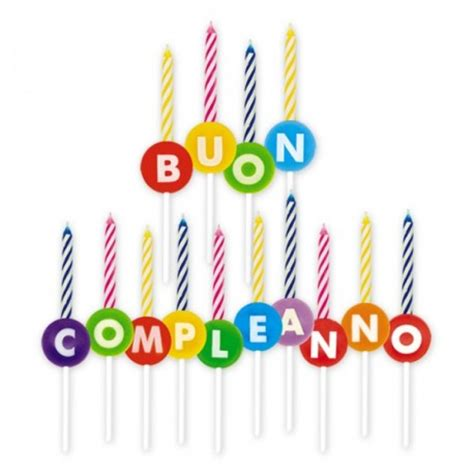 candele per compleanno candeline buon compleanno