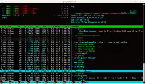 unix console htop an interactive process viewer for unix