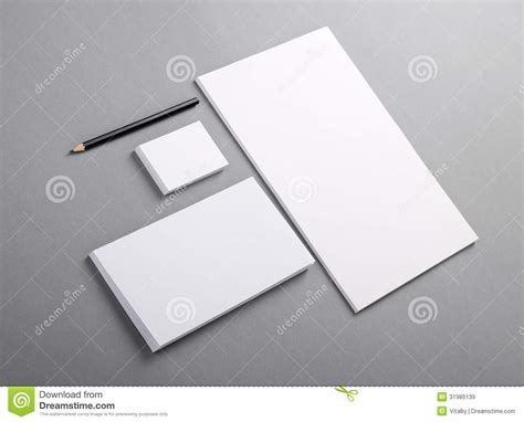 free business card letterhead envelope template blank basic stationery letterhead flat business card