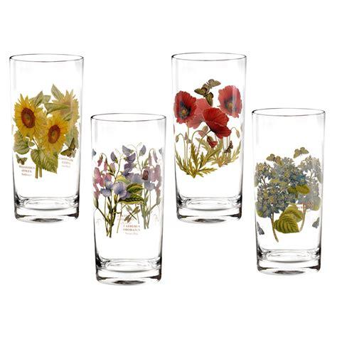 Portmeirion Botanic Garden Set Of 4 Highball Glasses Portmeirion Botanic Garden Glasses