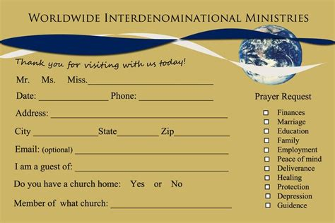 Youth Connection Card Template by 11 Best Pew Cards Images On Church Ideas