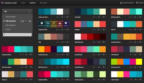 adobe color mejores combinaciones de colores para web adobe kuler