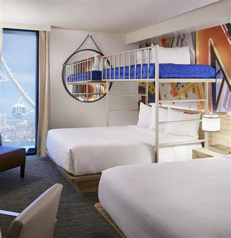 bunk beds las vegas the linq hotel casino offers first bunk bed rooms on the
