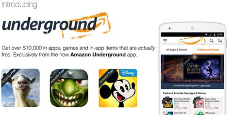 amazon underground app amazon s new underground app for android delivers over